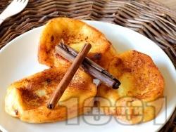 Специални меки и вкусни пържени филийки с канела - снимка на рецептата